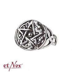 Inel argint Pentagrama celtica foto