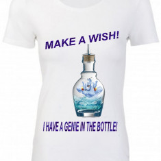 "TRICOU DAMA PERSONALIZAT ""GENIE IN THE BOTTLE"""