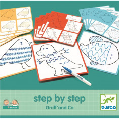 Set creativ Deseneaza pas cu pas Grafic Djeco