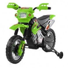 Motocicleta electrica pentru copii Enduro 30W | 6V #Verde