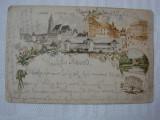 Carte postala circulata in 1898 - litografie ZAGREB, Croatia