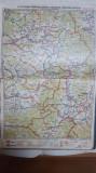 Harta Brașov, Făgăraș, Odorhei, Sf. Gheorghe, Miercurea Ciucului, Galați,  1928