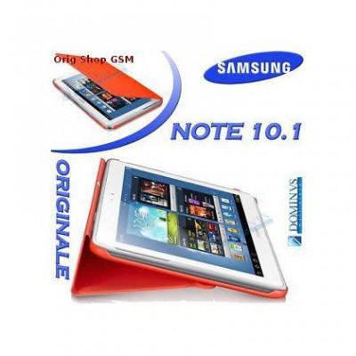 Husa piele Samsung Galaxy Note 10.1 N8000 EFC-1G2NW Orange Blist foto