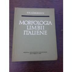 MORFOLOGIA LIMBII ITALIENE - GH. LAZARESCU