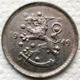 FINLANDA , 1 MARKKA 1949 H , VARIANTA III , FIER !!! EXISTA 8 VARIANTE !!!, Europa