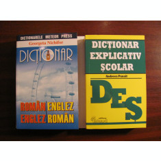 "2 dictionare G. NICHIFOR ""Englez-Roman-Englez"" + A. PANAIT ""Explicativ Scolar"""
