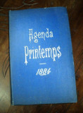 AGENDA PRINTEMPS, 1884, AGENDA VECHE NESCRISA
