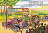 Eq. Guinea 1976 Old cars, perf. sheet, used I.065, Stampilat