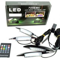 KIT lumina aripa LED SMD RGB cu telecomanda cod BO4A 12V ManiaCars