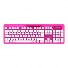 Tastatura wireless Rock Candy roz rezistenta la apa