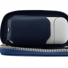 Husa din piele albastra pentru IQOS | German Couture