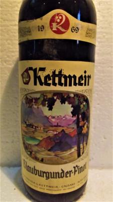 B 13- VIN KETTMEIR, BLAUBURGUNDER-PINOT, recoltare 1969 cl 75 gr 12,5 foto