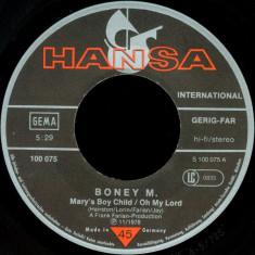 """Boney M - Mary's Boy Child (1978, Hansa) Disc vinil single 7"""""""