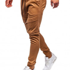 Pantaloni training cargo bărbați camel Bolf 1003