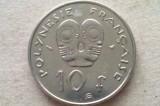 MONEDA 10 FRANCI 1998-POLINEZIA FRANCEZA, Australia si Oceania