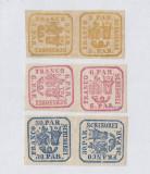 PRINCIPATELE UNITE EMISIUNEA II 1864 -  PERECHI CU O MARCA INTOARSA MNH / LUX, Nestampilat