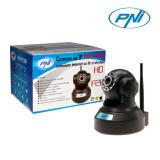 Resigilat : Camera cu IP PNI IP720P cu fir si wireless are capacitate de rotire si