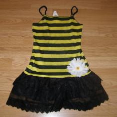 Costum carnaval serbare albina albinuta pentru copii de 4-5-6 ani, 4-5 ani, Din imagine