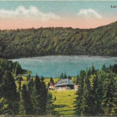 Carte postala Tusnad lacul Sfanta Ana interbelica