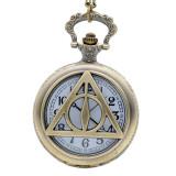 Pandantiv Medalion Lantisor Colier Ceas Harry Potter Triangle Deathly Hallows