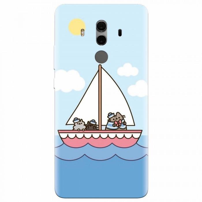 Husa silicon pentru Huawei Mate 10, Happy Sailors
