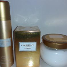 Set Giordani Gold Essenza: parfum, crema de corp, deodorant spray
