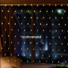 Plasa Luminoasa Craciun Exterior 3x3m 360LED Alb Cald FI P 6017