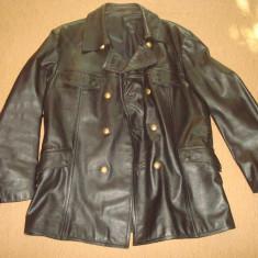 Geaca barbati, piele naturala bovina, model Army/Police/Moto/Vintage, anii '80
