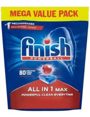 Tablete detergent pentru masina de spalat vase Finish All in 1 Max, 80 bucati foto