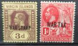 Timbre Colonii Britanice War Tax