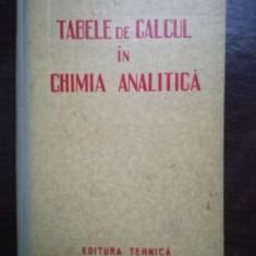 Tabele de calcul in chimia analitica- L. Mazor