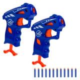 Set 2 arme de jucarie pentru copii, model lansator tip blaze cu 10 sageti moi, 10×15 cm