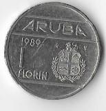Moneda 1 florin 1989 - Aruba