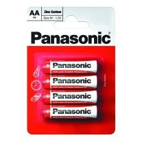 Panasonic baterii r6 aa zinc carbon 4 buc la blister foto