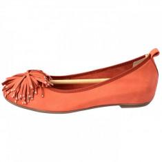Balerini dama, din piele naturala, marca Caprice, 9-22121-20-11, orange 38