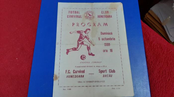 program Corvinul Hd. - SC Bacau