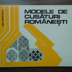 Modele de cusaturi romanesti - Ana Pintilescu (1977)