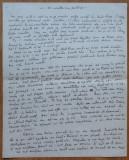 Manuscris Ion Agarbiceanu , La moartea unui prieten , 8 pagini scrise si semnate