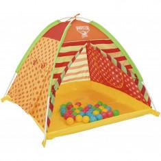 Cort De Joaca Pentru Copii Cu 40 De Bile Colorate, Multicolor