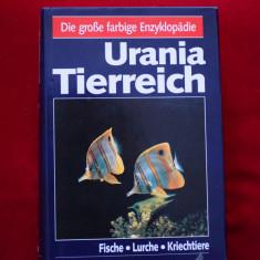 Urania Tierreich Fische Lurche Kriechtiere (pesti, amfibieni, reptile), 1991