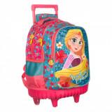 Ghiozdan troler gradinita pentru fete, model Rapunzel, 32x13x44 cm