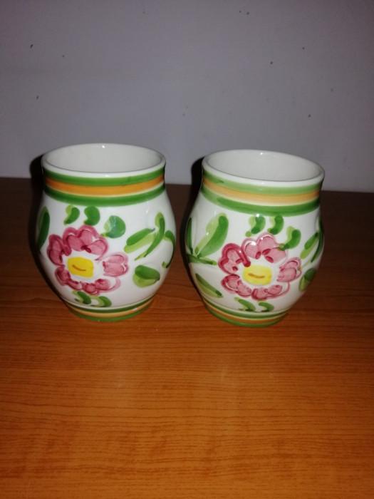 Pereche vaza/cupa ceramica Claudio Bernini 9.5 cm