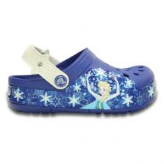 Saboți Copii casual Crocs CrocsLights FrozenFever Clog, 28.5, Albastru