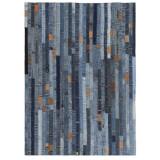 Covor petice jeans 80x150 cm Albastru denim