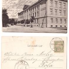 Alba Iulia 1905 - Gimnaziul romano-catolic, ilustrata circulata