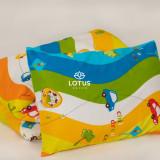 Lenjerie de pat pentru copii cu masinute, viu colorata, bumbac 100%, 3 piese., 180x220 cm