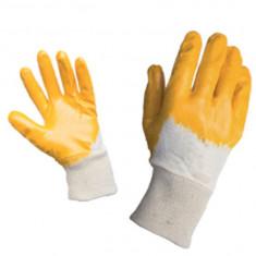 Manusi de protectie galben nitril cu manson elastic Top Strong