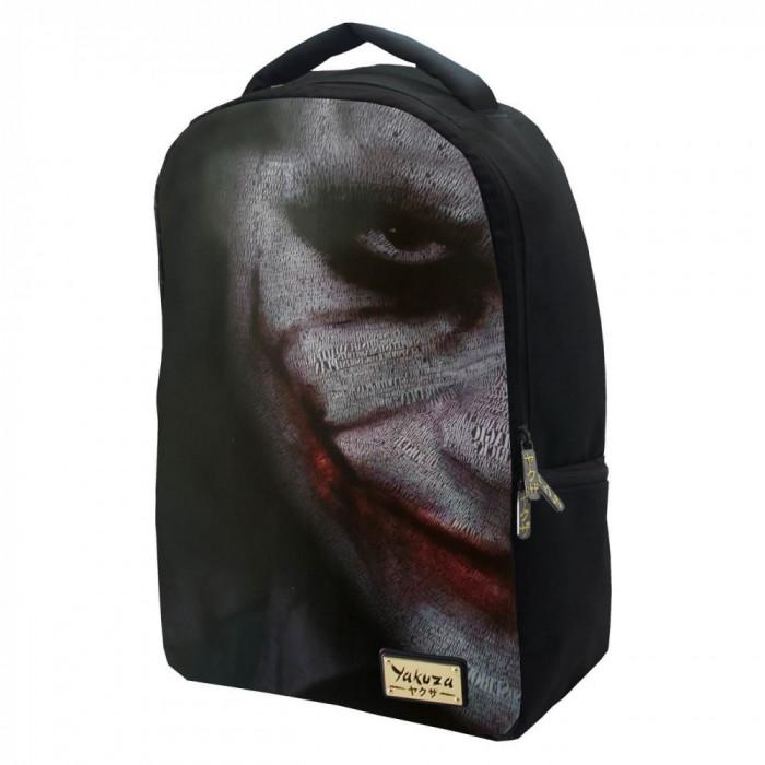 Ghiozdan scoala, Model Joker, 30x42x10 cm, negru