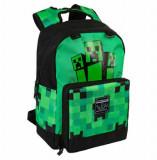 Ghiozdan Minecraft, Creeper Fatigued, 44cm, ORIGINAL
