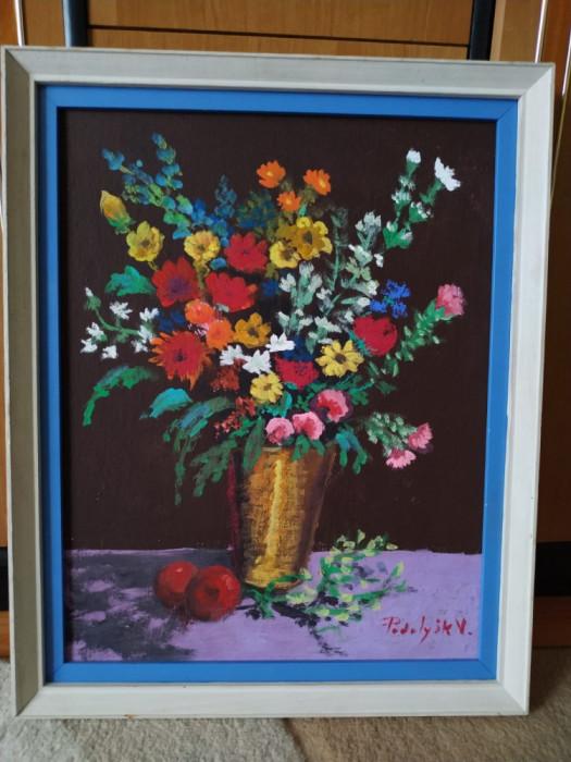Pictura Natura statica cu flori - de Podolyak Vilmos